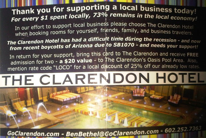 Clarendon Flyer about Effects of Boycott